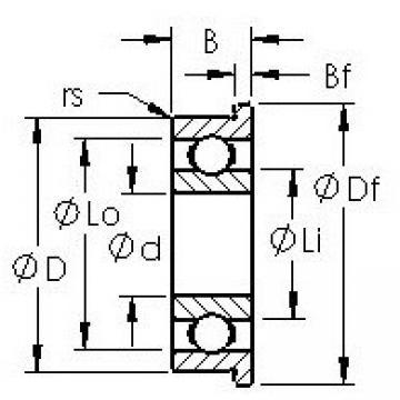 AST F605H deep groove ball bearings