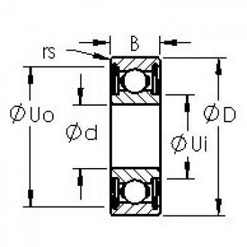 AST 6219ZZ deep groove ball bearings