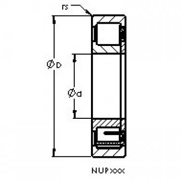 AST NUP2222 EM cylindrical roller bearings