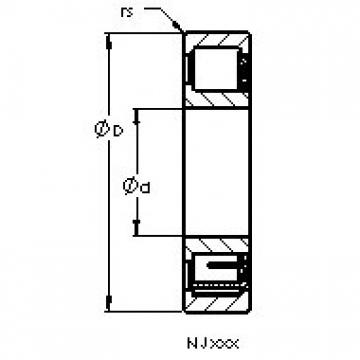 AST NJ2222 EMA cylindrical roller bearings