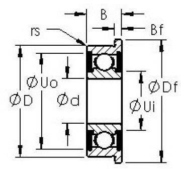AST F605H-2RS deep groove ball bearings