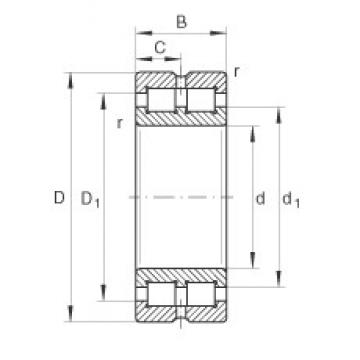 280 mm x 380 mm x 100 mm  INA SL014956 cylindrical roller bearings