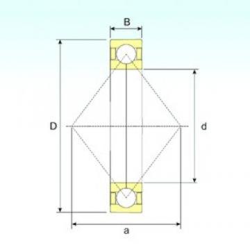 150 mm x 320 mm x 65 mm  ISB QJ 330 N2 M angular contact ball bearings