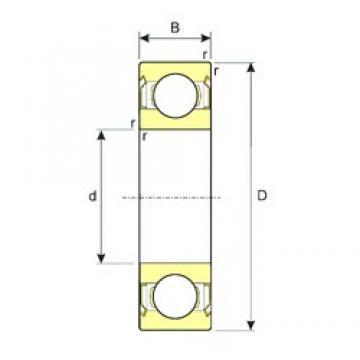 95 mm x 200 mm x 45 mm  ISB 6319-ZZ deep groove ball bearings