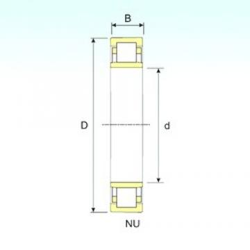 95 mm x 170 mm x 32 mm  ISB NU 219 cylindrical roller bearings