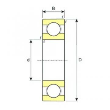 5 mm x 14 mm x 5 mm  ISB 605 deep groove ball bearings