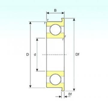 6 mm x 17 mm x 6 mm  ISB 606 deep groove ball bearings