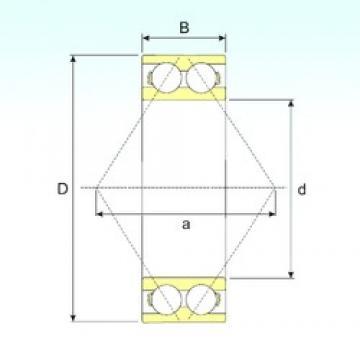 25 mm x 62 mm x 25,4 mm  ISB 3305 ATN9 angular contact ball bearings