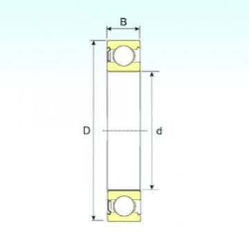 95 mm x 170 mm x 32 mm  ISB 6219-Z deep groove ball bearings