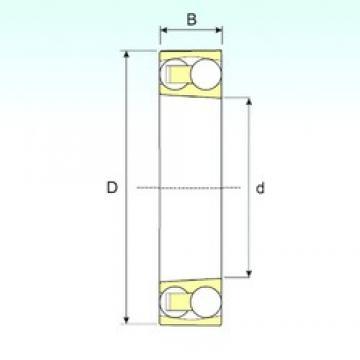95 mm x 200 mm x 45 mm  ISB 1319 K self aligning ball bearings