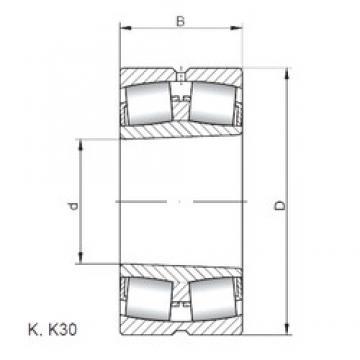 110 mm x 200 mm x 53 mm  Loyal 22222 KCW33 spherical roller bearings