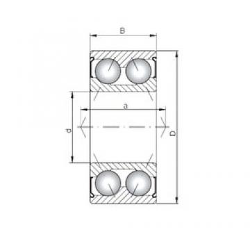 ISO 3305 ZZ angular contact ball bearings