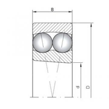 95 mm x 200 mm x 45 mm  Loyal 1319K self aligning ball bearings