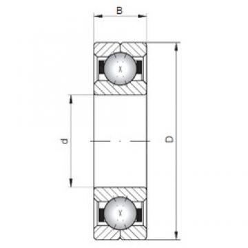 ISO Q319 angular contact ball bearings