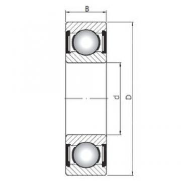 95 mm x 170 mm x 32 mm  Loyal 6219 ZZ deep groove ball bearings