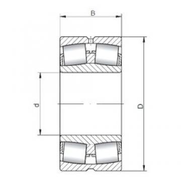 110 mm x 200 mm x 53 mm  ISO 22222W33 spherical roller bearings