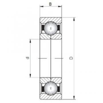 Loyal QJ319 angular contact ball bearings