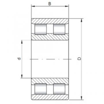 280 mm x 380 mm x 100 mm  ISO NN4956 cylindrical roller bearings