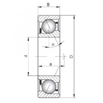 70 mm x 110 mm x 20 mm  ISO 7014 B angular contact ball bearings
