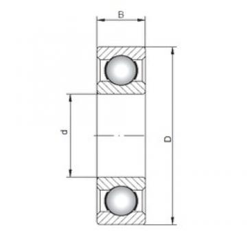 95 mm x 170 mm x 32 mm  Loyal 6219 deep groove ball bearings