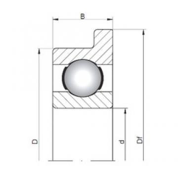 6 mm x 17 mm x 6 mm  Loyal FL606 deep groove ball bearings