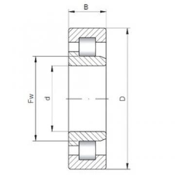 220 mm x 460 mm x 88 mm  Loyal NJ344 E cylindrical roller bearings