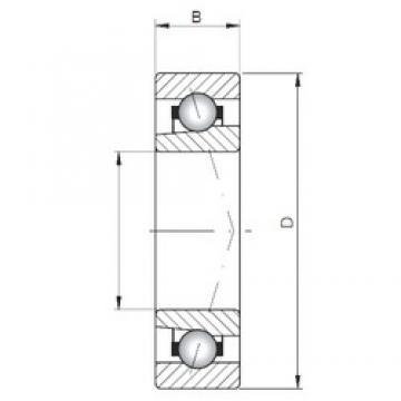 Loyal 71822 ATBP4 angular contact ball bearings
