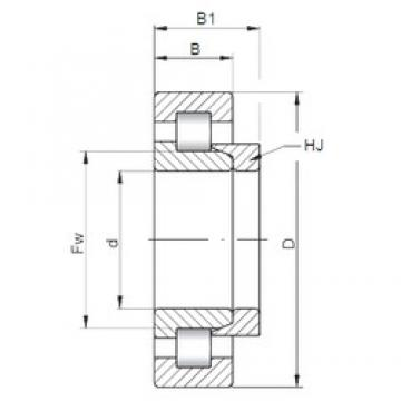 95 mm x 170 mm x 32 mm  ISO NH219 cylindrical roller bearings