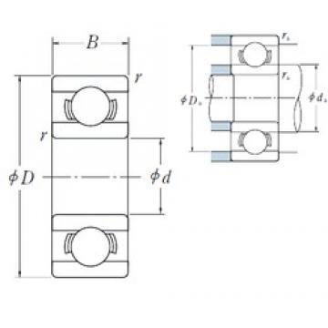 5 mm x 14 mm x 5 mm  NSK 605 deep groove ball bearings