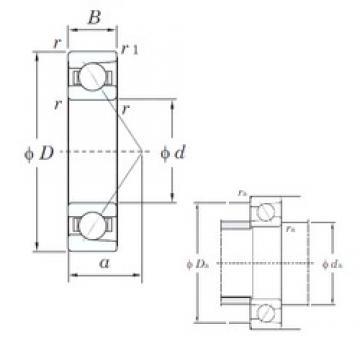 80 mm x 200 mm x 48 mm  KOYO 7416B angular contact ball bearings