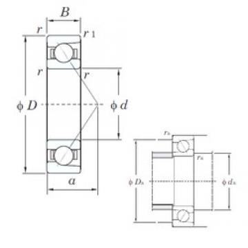 95 mm x 170 mm x 32 mm  KOYO 7219 angular contact ball bearings