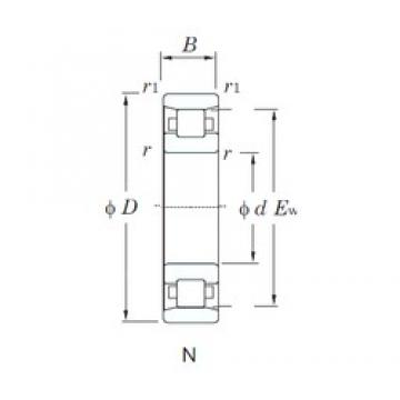 150 mm x 320 mm x 65 mm  KOYO N330 cylindrical roller bearings