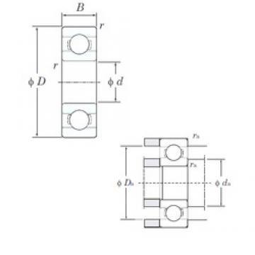 5 mm x 14 mm x 5 mm  KOYO 605 deep groove ball bearings