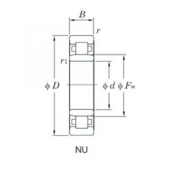 95 mm x 200 mm x 45 mm  KOYO NU319 cylindrical roller bearings