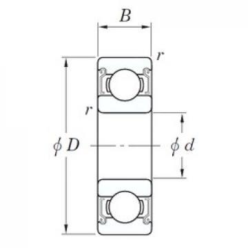 5 mm x 14 mm x 5 mm  KOYO SV 605 ZZST deep groove ball bearings