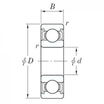 6 mm x 17 mm x 6 mm  KOYO SV 606 ZZST deep groove ball bearings