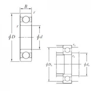 110 mm x 140 mm x 16 mm  KOYO 6822 deep groove ball bearings