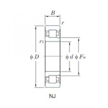110 mm x 200 mm x 53 mm  KOYO NJ2222 cylindrical roller bearings