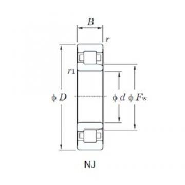 110 mm x 200 mm x 53 mm  KOYO NJ2222R cylindrical roller bearings