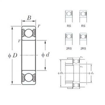 95 mm x 200 mm x 45 mm  KOYO 6319-2RS deep groove ball bearings