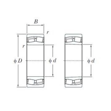 110 mm x 200 mm x 53 mm  KOYO 22222RHRK spherical roller bearings