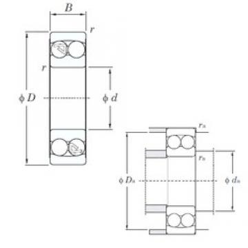 95 mm x 200 mm x 45 mm  KOYO 1319 self aligning ball bearings