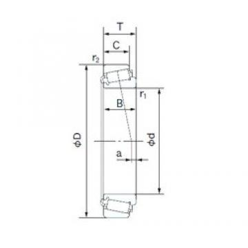 40 mm x 90 mm x 23 mm  NACHI E30308DJ tapered roller bearings