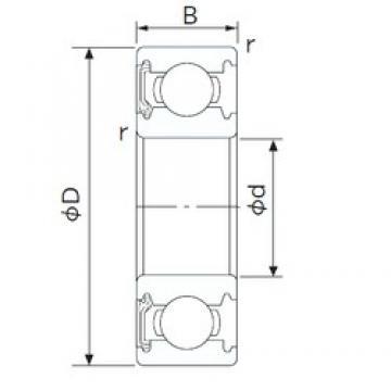 95 mm x 170 mm x 32 mm  NACHI 6219NK deep groove ball bearings