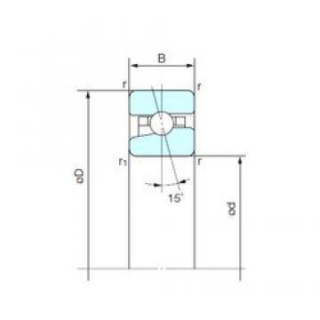 45 mm x 75 mm x 16 mm  NACHI BNH 009 angular contact ball bearings