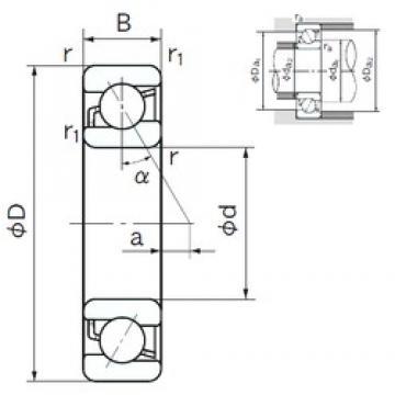 95 mm x 200 mm x 45 mm  NACHI 7319 angular contact ball bearings