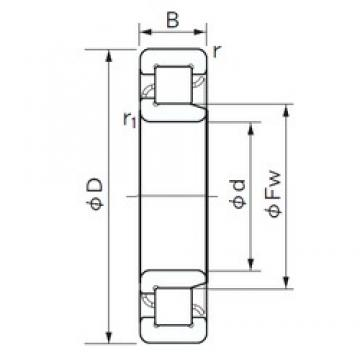 110 mm x 200 mm x 53 mm  NACHI NJ 2222 E cylindrical roller bearings