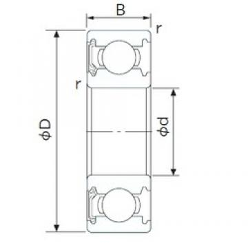 105 mm x 145 mm x 20 mm  CYSD 6921-RZ deep groove ball bearings
