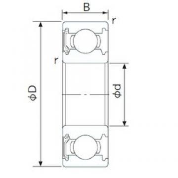 45 mm x 75 mm x 16 mm  NACHI 6009NSE deep groove ball bearings