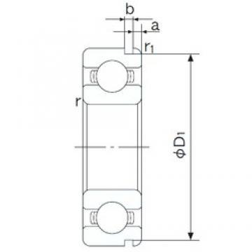 105 mm x 145 mm x 20 mm  NACHI 6921N deep groove ball bearings